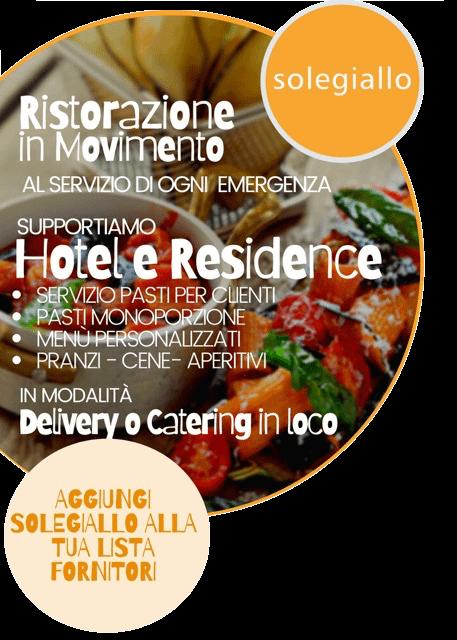 servizio catering per hotel e residence